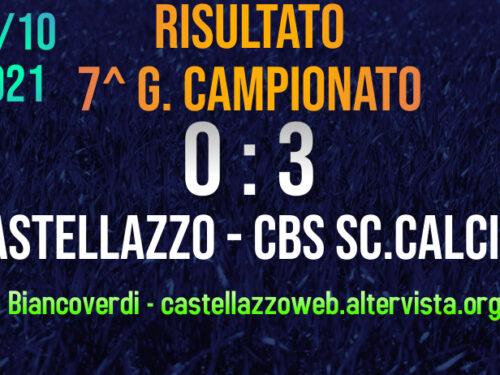 7^ GIORNATA – CASTELLAZZO DI NUOVO SCONFITTO